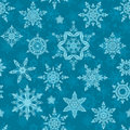 Snowflakes seamless Royalty Free Stock Image