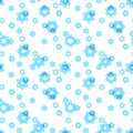Snowflakes seamless background Stock Photos