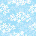 Snowflakes seamless christmas pattern Stock Photo