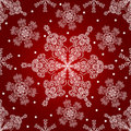 Snowflakes seamless pattern. Stock Photos