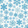 Snowflakes seamless pattern a with blue on white background eps file available Stock Image