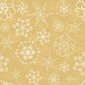 Snowflakes seamless pattern with hand drawn Royalty Free Stock Photo