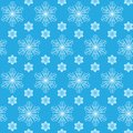 Snowflakes seamless pattern with hand drawn Stock Photo