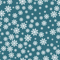 Snowflakes seamless pattern. Snowflake background decoration. Christmas pattern Vector Royalty Free Stock Photo