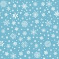 Snowflakes seamless pattern. Winter snow flake stars, falling flakes snows and snowed snowfall vector background Royalty Free Stock Photo