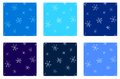 Snowflakes seamless set eps vector winter pattern Stock Images