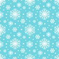 Snowflakes seamless winter pattern, christmas background. vector illustration