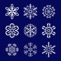 Snowflakes set Royalty Free Stock Photos