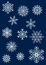 Snowflakes set 2 Stock Photos