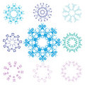 Snowflakes set Stock Photo