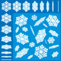 Snowflakes Set Stock Images