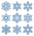 Snowflakes set Stock Photography