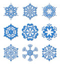 Snowflakes set Royalty Free Stock Images
