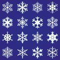 Snowflakes set of Stock Photo