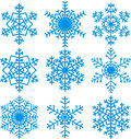 Snowflakes set beautiful for christmas winter design Stock Photos