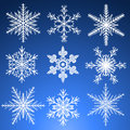 Snowflakes set decorative vector Royalty Free Stock Photography