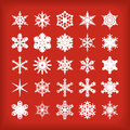 Snowflakes set of eps file Stock Images