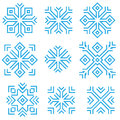 Snowflakes set of various suitable for any christmas or winter design Royalty Free Stock Photos