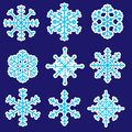 Snowflakes stickers icons eps cold Royalty Free Stock Photography