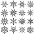 Snowflakes, vector Stock Photo