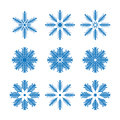 Snowflakes Vector Royalty Free Stock Photography