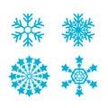 Snowflakes vector set. snow flake icon Royalty Free Stock Photo