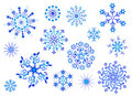 Snowflakes. Vector. Winter collection.  Stock Photography