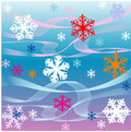 Snowflakes and waves Stock Photography