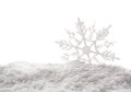 Snowflakes white snowflake holiday decoration close studio shot Royalty Free Stock Photo
