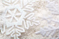 Snowflakes white snowflake holiday decoration close studio shot Royalty Free Stock Image