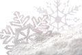 Snowflakes white snowflake holiday decoration close studio shot Royalty Free Stock Photography