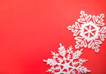 Snowflakes white snowflake holiday decoration close studio shot Royalty Free Stock Photos