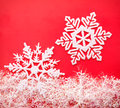 Snowflakes white snowflake holiday decoration close studio shot Stock Photography