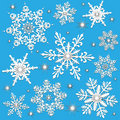 Snowflakes Winter or Christmas Royalty Free Stock Images