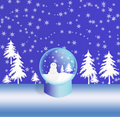 Snowglass do Natal Imagem de Stock Royalty Free