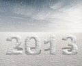Snowing in 2013 Stock Photography