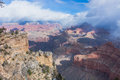 Snowing in the Grand Canyon, Arizona, USA Royalty Free Stock Photo
