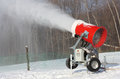 Snowmaking is the production Royalty Free Stock Photo