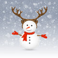 Snowman with antler