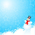Snowman background Stock Photography