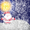 Snowman on background Royalty Free Stock Image