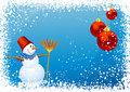 Snowman background Royalty Free Stock Images