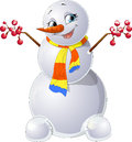 Snowman beautiful with multi colored the sharfiky Royalty Free Stock Photos