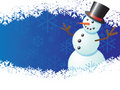 Snowman with blue background Royalty Free Stock Photos