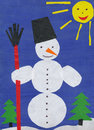 Snowman. Children paper applique. Royalty Free Stock Photo