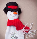 Snowman for Chirstmas Royalty Free Stock Photography