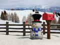 Snowman at Christmas Stock Photography
