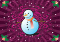 Snowman in CHristmas Background Royalty Free Stock Images