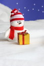 Snowman Christmas Card - Stock Photo Stock Photos