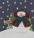 Snowman Christmas Decoation Royalty Free Stock Image
